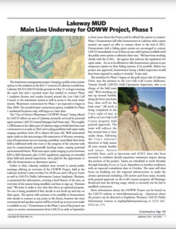 Main Line Underway for ODWW Project, Phase 1